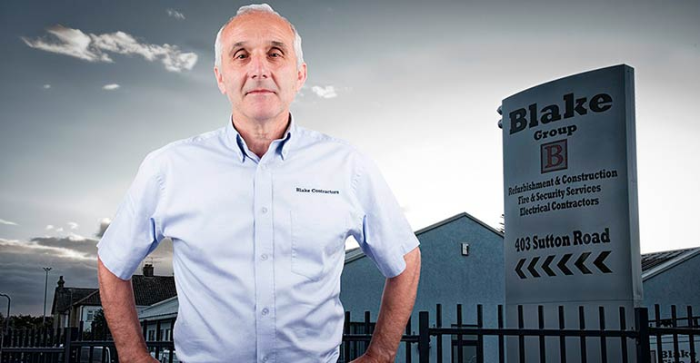 Ian Blake, Managing Director of Blake Building and Electrical Contractors, Southend, Essex & London